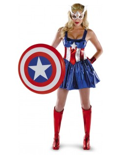 Kvindelige Captain America Kostume Superhelte Kostumer