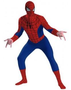 Klassisk Lycra Spiderman Kostume Til Voksne Rød