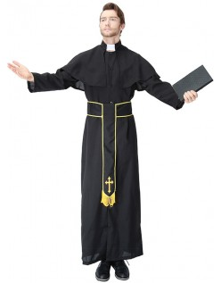 Voksen Kardinal Præste Kostume Til Mænd