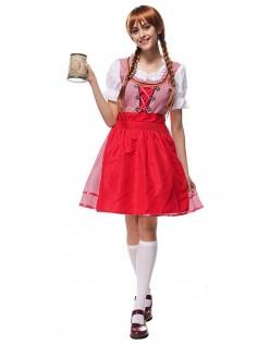 Bayersk Tyroler Kostume Oktoberfest Kjole