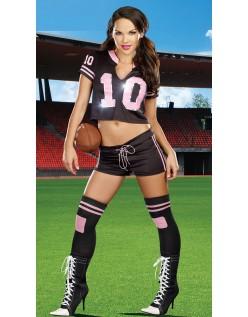Touchdown Fodbold Cheerleader Kostume