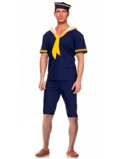 Blue Short Ahoy Navy Sailor Kostume Til Mænd