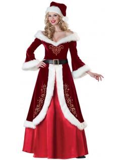 Frække Sparkly Mrs Nissepige Kostume