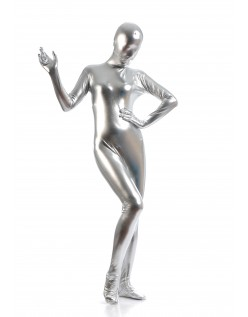 Morphsuits Kvinder All Inclusive Metallic Skinnende Dragt Sølv
