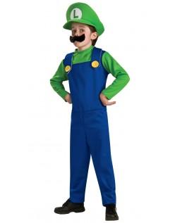 Super Mario Bros Luigi Kostume til Børn