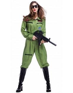 Pilot Kostume Top Gun Kostume Kvinde