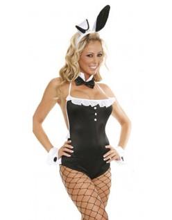Pige Ved Siden Af Frække Bunny Kostume