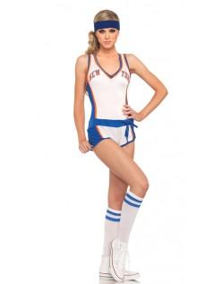 Hvid Lakers Basketball Frække Cheerleader Kostume