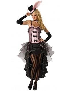 Rosa Dåse Can Can Kostume Burlesque Kjole