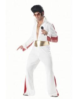 50'er Rock N'roll Stjerne Elvis Kostume