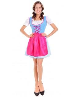 Dirndl Tyrolerkjole Oktoberfest Kostume Rosa