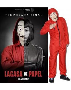 La Casa De Papel Salvador Dali Kostume Med Maske Voksne Børn