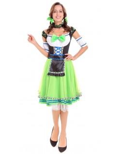 Tyroler Oktoberfest Kostume Mellemlang Grøn