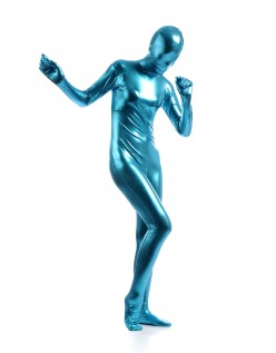 Morphsuits Kvinder All Inclusive Metallic Skinnende Dragt Lyseblå