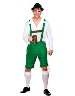 Tysk Oktoberfest Lederhosen Grøn Og Hvid