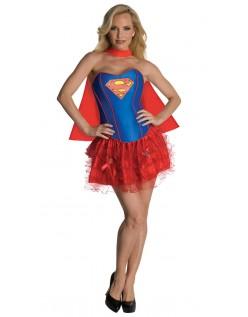 Glitter Korset Supergirl Kostume