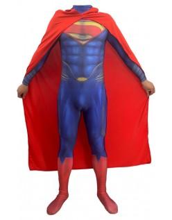 Justice League Deluxe Superman Kostume Voksen og Børn