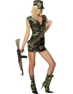 Frække Feber Bekæmpe Pige Militær Kostume
