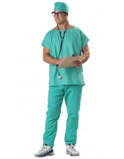 Halloween Kostumer Mens Doctor Scrubs Kostume