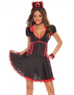 Sort Sygeplejerske Kostume Cosplay Uniform