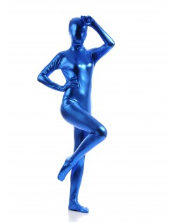 Morphsuits Kvinder All Inclusive Metallic Skinnende Dragt Blå