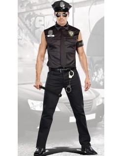Beskidt Politi Kostume Til Mænd