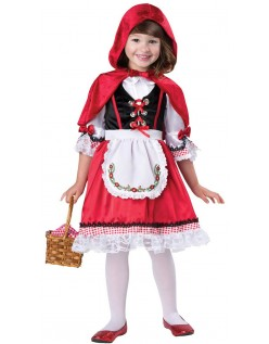 Darling Lille Rødhætte Kostume Børn Halloween Kostumer