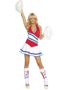 USA Kvinders Frække Cheerleader Kostume