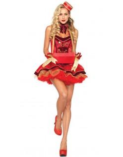 Vintage Cigaret Pige Kostume Rød