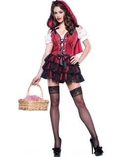 Frække Halloween Lille Rødhætte Kostume