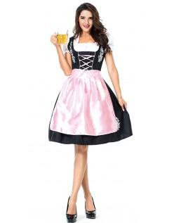 b6a466d7ca9e Broderi Dirndl Kjole Oktoberfest Tyroler Kostume Kvinder