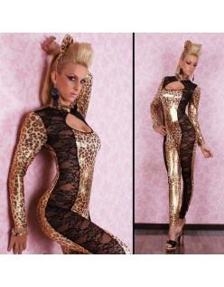 Blonder Gennembrudt Catwoman Leopard Kostume