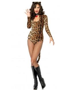 Leopard Catwoman Kvinder Kostume
