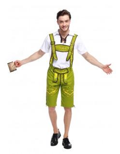 Bavarian Oktoberfest Lederhosen Kostume Grøn