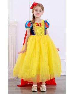 Deluxe Børn Snehvide Kostume Prinsessekjole