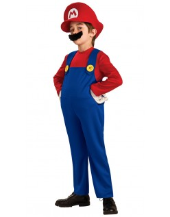 Deluxe Super Mario Bros Mario Kostume til Børn