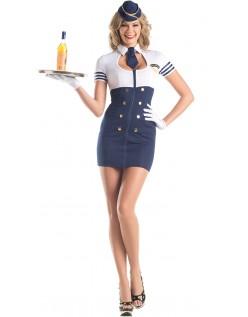 Mile Høj Service Stewardess Kostume