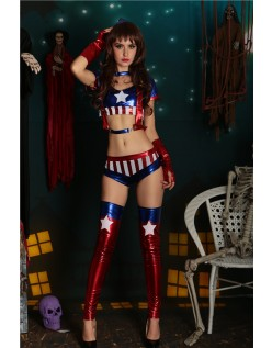 Frække America Superhelte Kostume Sæt