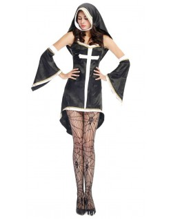 Syndigt Hot Nonne Kostume