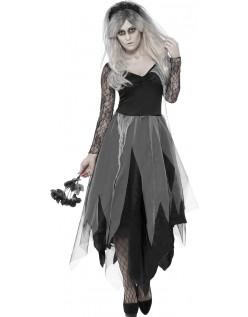 Kirkegård Brud Kostume Halloween Udklædning