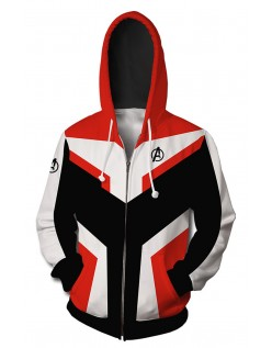 Marvel Avengers Endgame Quantum Kostume Langærmet Hættetrøje Rød