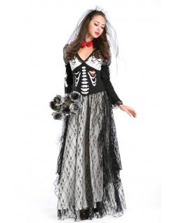 Halloween Skelet Zombie Brude Kostume