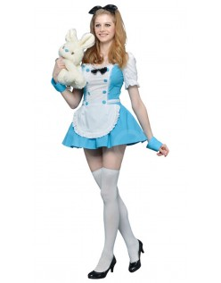 Smuk Alice i Eventyrland Kostume Med Bue