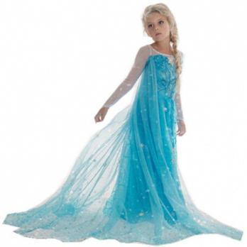 Elsa Frost Kjole Frost Prinsesse Kostume