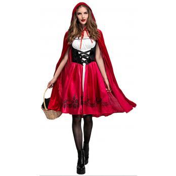 Lille Rødhætte Kostume Til Halloween