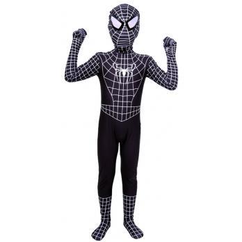 Klassisk Lycra Spiderman Kostume Til Børn Sort